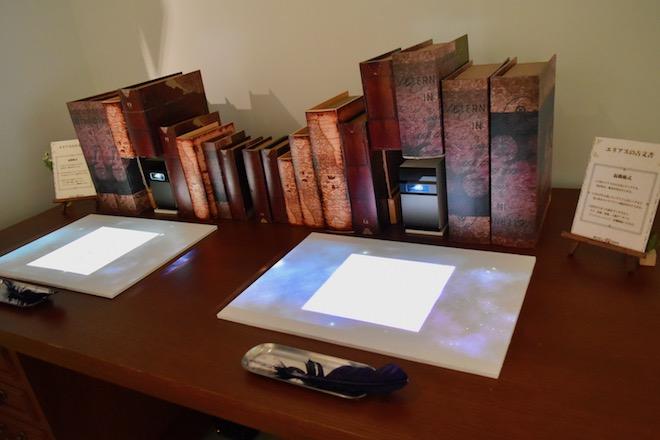 ラフ、原画、原稿、入稿データと制作過程を見ることができる「エリアスの古文書」