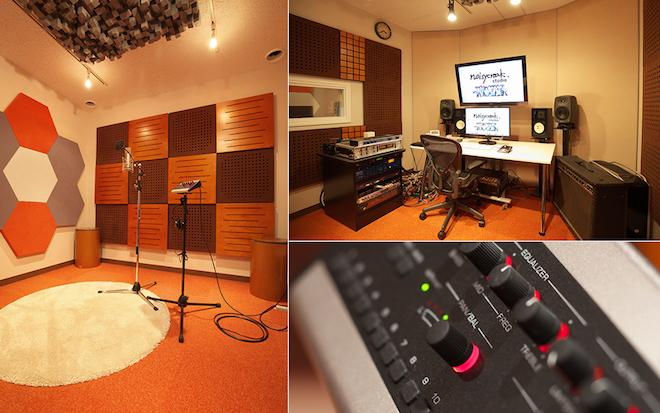 ゲーム音楽制作を行っている株式会社ノイジークロークの東京スタジオ
