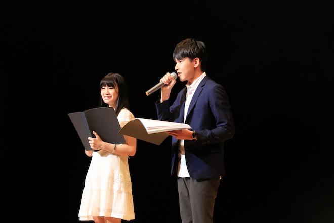 清水紗羅さん(左)、田丸篤志さん(右)-2017年8月6日(日)に福岡県の北九州芸術劇場で「北九州アニソンコンテスト2017」が開催されました。その様子をフォトレポートでお届けします。