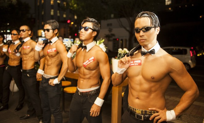 マッスルカフェはイケメンパフォーマンスチーム「ALL OUT(オールアウト)」による筋肉とカフェ。触り放題・熱狂し放題の日本最大級のコンセプトイベント(女性限定