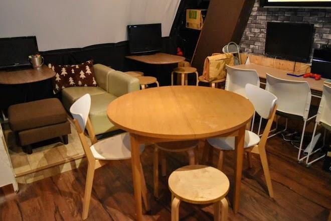 丸テーブル席の様子