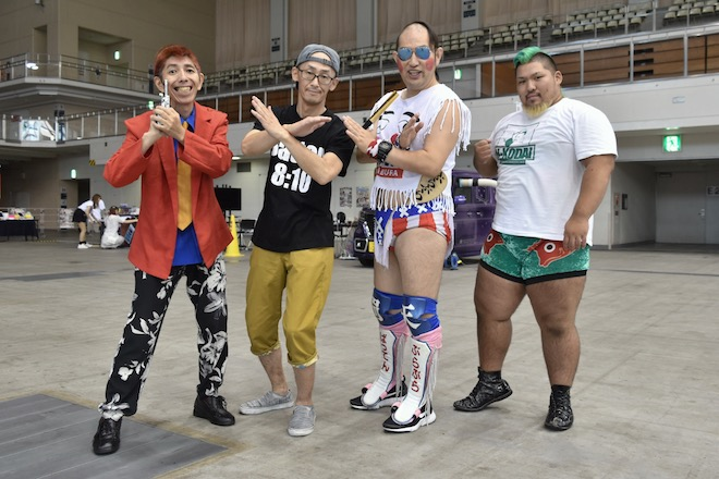 2019年8月17日(土)に福岡国際センターで「ニコニコ町会議全国ツアー2019 in 福岡市 福岡サブカルまつり」が開催されました。チラチラパンチのメンバーの様子です。