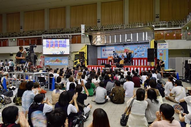 2019年8月17日(土)に福岡国際センターで「ニコニコ町会議全国ツアー2019 in 福岡市 福岡サブカルまつり」が開催されました。町ゲーム実況「ティンバーマン」プレイの様子です。
