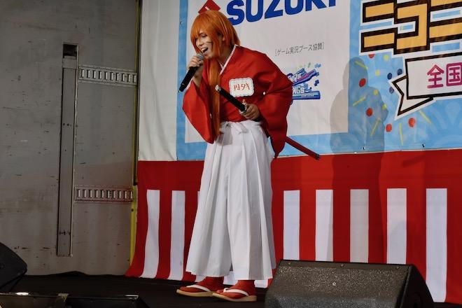 2019年8月17日(土)に福岡国際センターで「ニコニコ町会議全国ツアー2019 in 福岡市 福岡サブカルまつり」が開催されました。町歌ってみた対抗戦で、るろうに剣心のコスプレ。