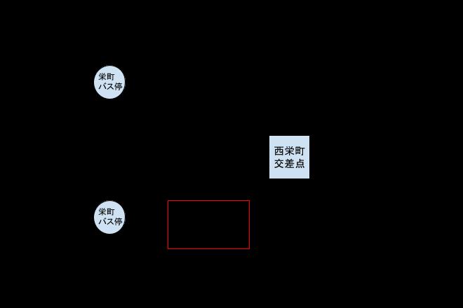 インチキ堂の周辺マップ