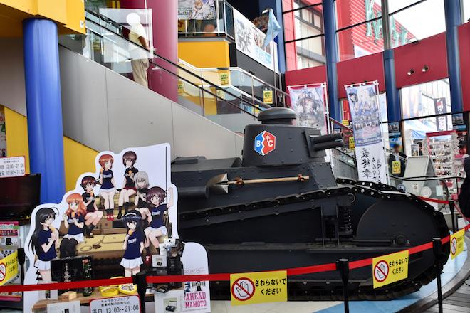 2019年9月1日(日)に熊本市のnamcoワンダーシティ南熊本店でガルパンの声優トークショーが開催。ルノーFT(FT-17)の展示