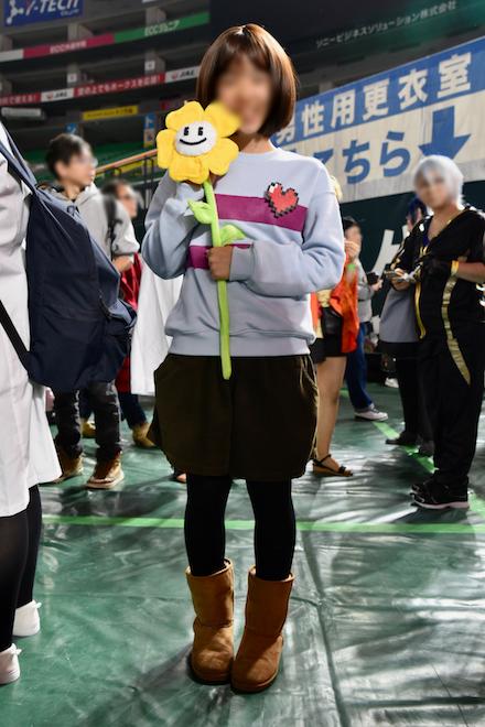 2019年11月4日(月・祝)に福岡市中央区の福岡 ヤフオク!ドームでオールジャンル同人誌即売会「CC福岡50」が開催されました。Undertaleのコスプレイヤーです。