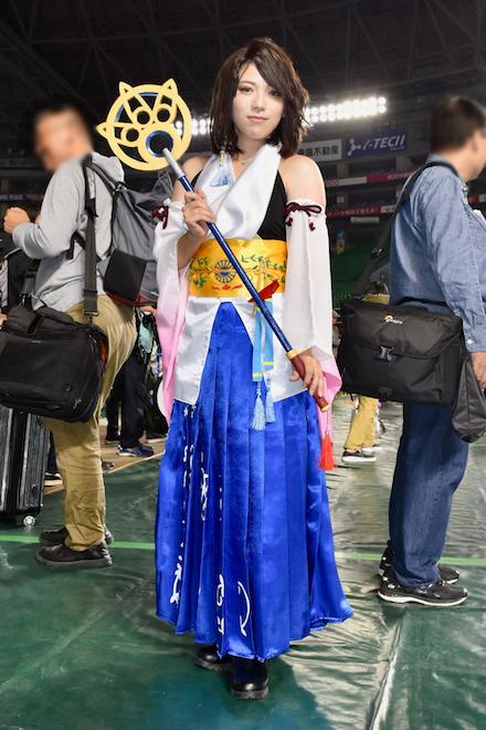 2019年11月4日(月・祝)に福岡市中央区の福岡 ヤフオク!ドームでオールジャンル同人誌即売会「CC福岡50」が開催されました。FF10コスプレイヤーです。