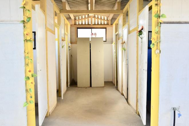 2019年11月16日(土)に福岡市西区の能古島キャンプ村・海水浴場でサブカルチャー複合イベント「のこのしまオタフェスト」が開催されました。更衣室
