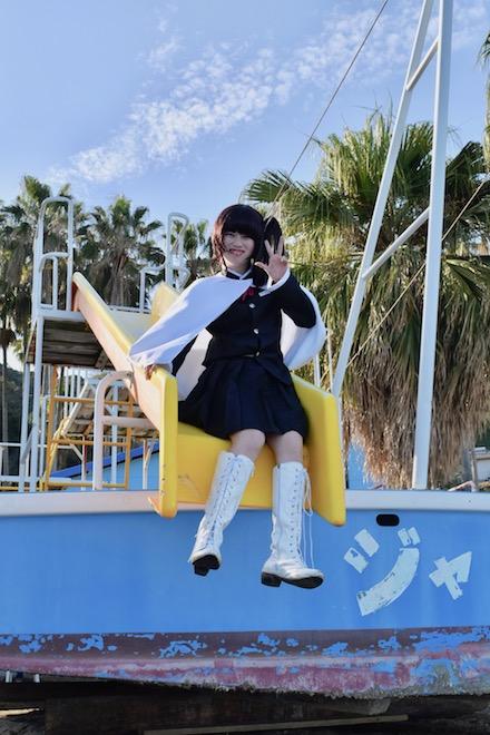 2019年11月16日(土)に福岡市西区の能古島キャンプ村・海水浴場でサブカルチャー複合イベント「のこのしまオタフェスト」が開催されました。胡蝶カナヲのコスプレ
