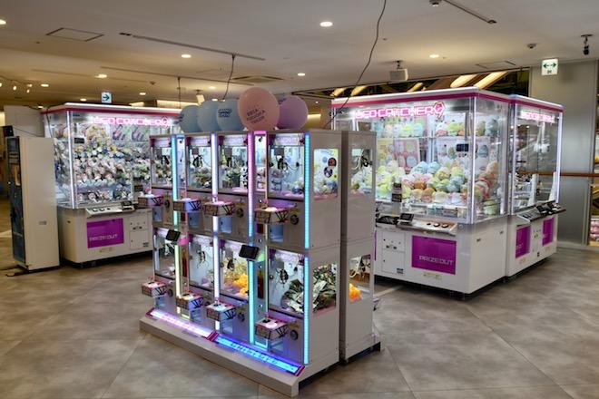 2019年11月1日(金)に福岡市中央区天神にゲームセンター「セガ福岡天神」がオープンしました。2FのUFOキャッチャーの様子です。