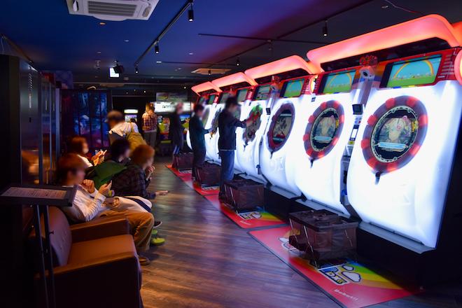 2019年11月1日(金)に福岡市中央区天神にゲームセンター「セガ福岡天神」がオープンしました。3Fのリズムゲームの様子です。