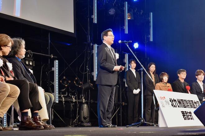 2019年11月30日(土)に福岡県北九州市の西日本総合展示場 新館で第4回「北九州国際漫画大賞」表彰式が行われました。その様子をお届けします。北九州市の北橋市長より挨拶