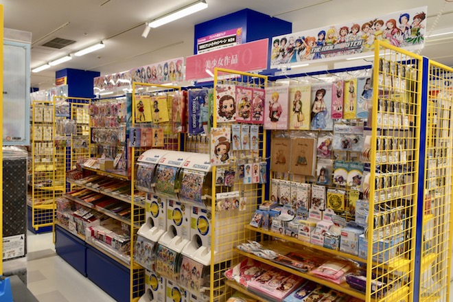 アニメイト福岡パルコの美少女作品コーナー