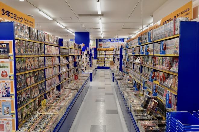 アニメイト福岡パルコの少年コミックコーナー