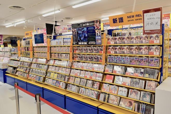 アニメイト福岡パルコのCD新譜コーナー