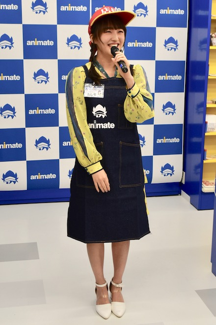 2020年3月27日(金)にアニメイト福岡パルコ・プレオープン前の内覧会で、HKT48 TeamHの田島芽瑠さんがアンバサダー(大使)として登場しました。