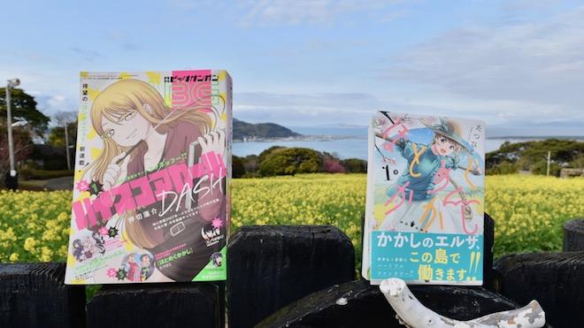 月刊ガンガン(左)・ほとめくかかし1巻(右)
