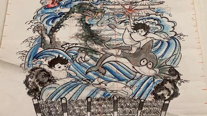 博多祇園山笠図「海のトリトン」