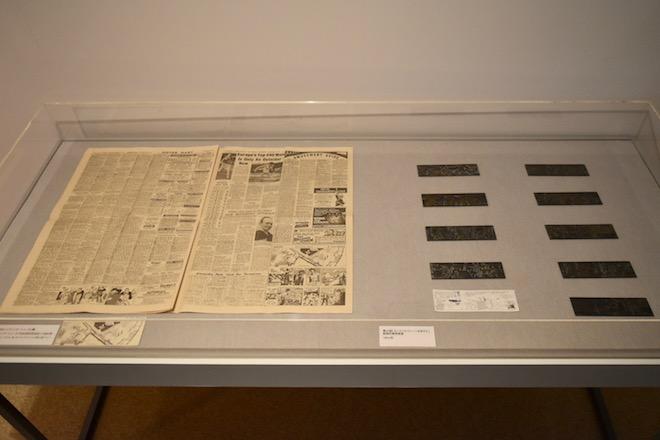 (左から)イブニング・ニューズ紙、新聞印刷用原版